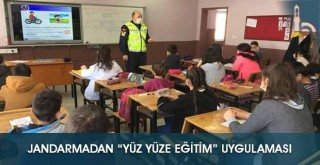 """Jandarmadan """"Yüz yüze Eğitim"""" Uygulaması"""