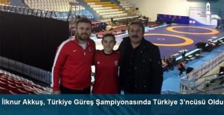 İlknur Akkuş, Türkiye Güreş Şampiyonasında Türkiye 3'ncüsü oldu