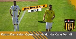 Bayburtspor'da  kadro dışı kalan oyuncular hakkında karar verildi