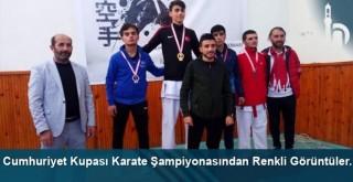Bayburt'ta Cumhuriyet Kupası Karate Şampiyonası renkli görüntülere sahne oldu.