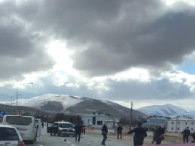 Bayburt-Erzurum Karayolunda Kaza: 4 Yaralı